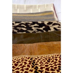NWT Hancock & Moore 6 Leather Fabric Print Swatch